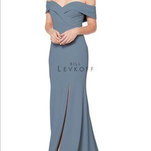Bill Levkoff Bridesmaid Dress in Slate. NWT